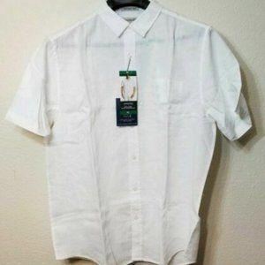 Men's Linen Short Sleeve Woven Shirt